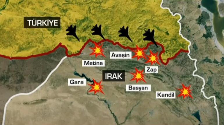 Son dakika... Kuzey Irakta geniş çaplı operasyon Metinaya kara harekatı başladı