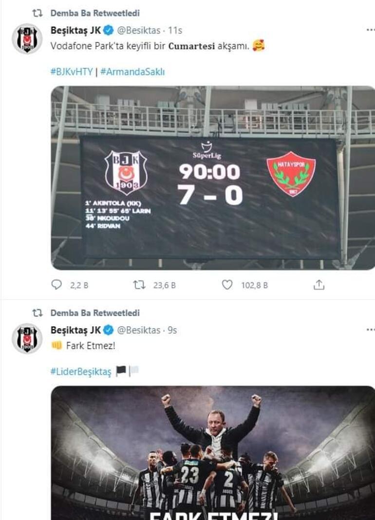 Başakşehirden ayrılan Demba Badan flaş Beşiktaş paylaşımı