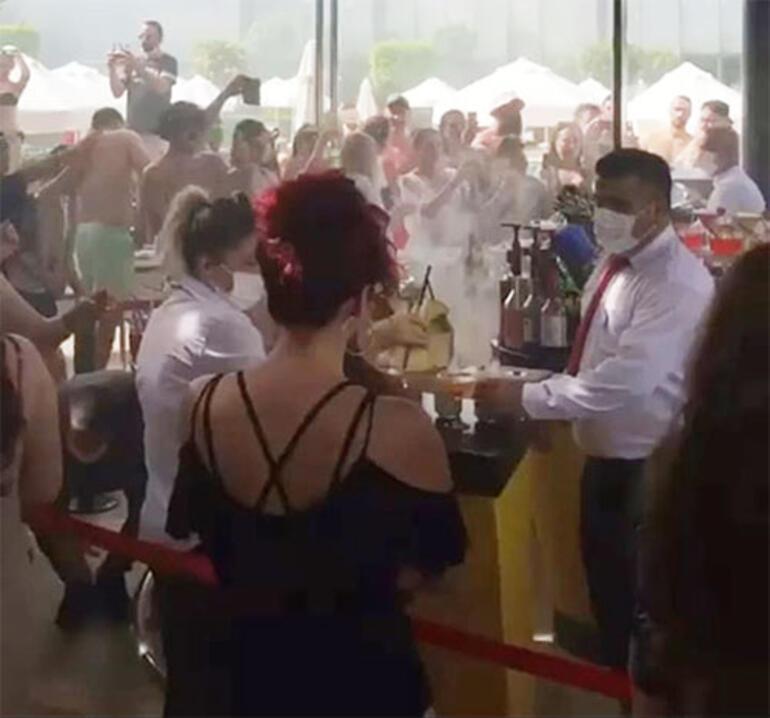 Antalyada hınca hınç korona partisi