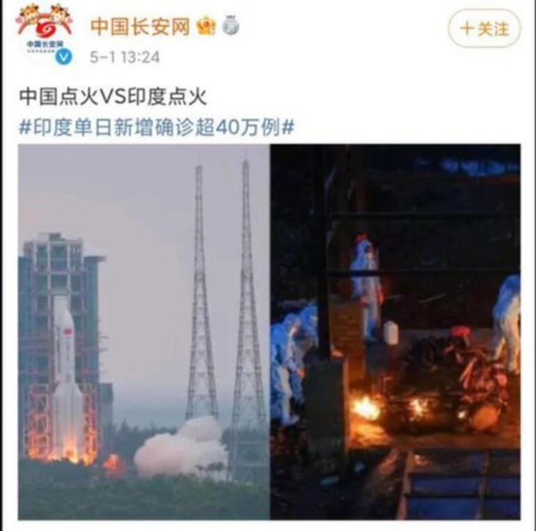 Çin, Hindistan ile alay eden sosyal medya paylaşımını sildi