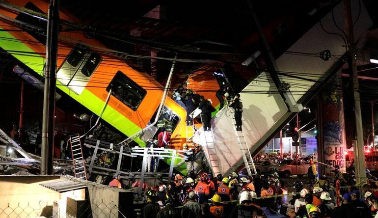 Son dakika haberi... Mexico Cityde metro üst geçidi çöktü: Çok sayıda ölü ve yaralı var