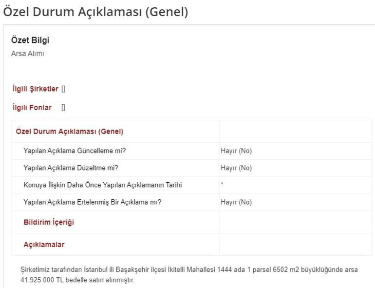 Son dakika... İstanbul'da dev arsa satıldı İçinde hafriyat çalışması var