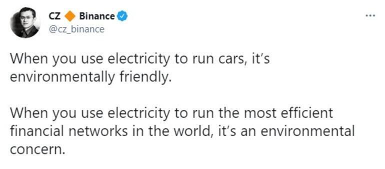 Kripto para savaşları sürüyor Binanceın CEOsundan Elon Muska taş
