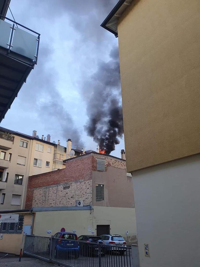 Yine ırkçı saldırı mı: Türklerin kaldığı bina kundaklandı