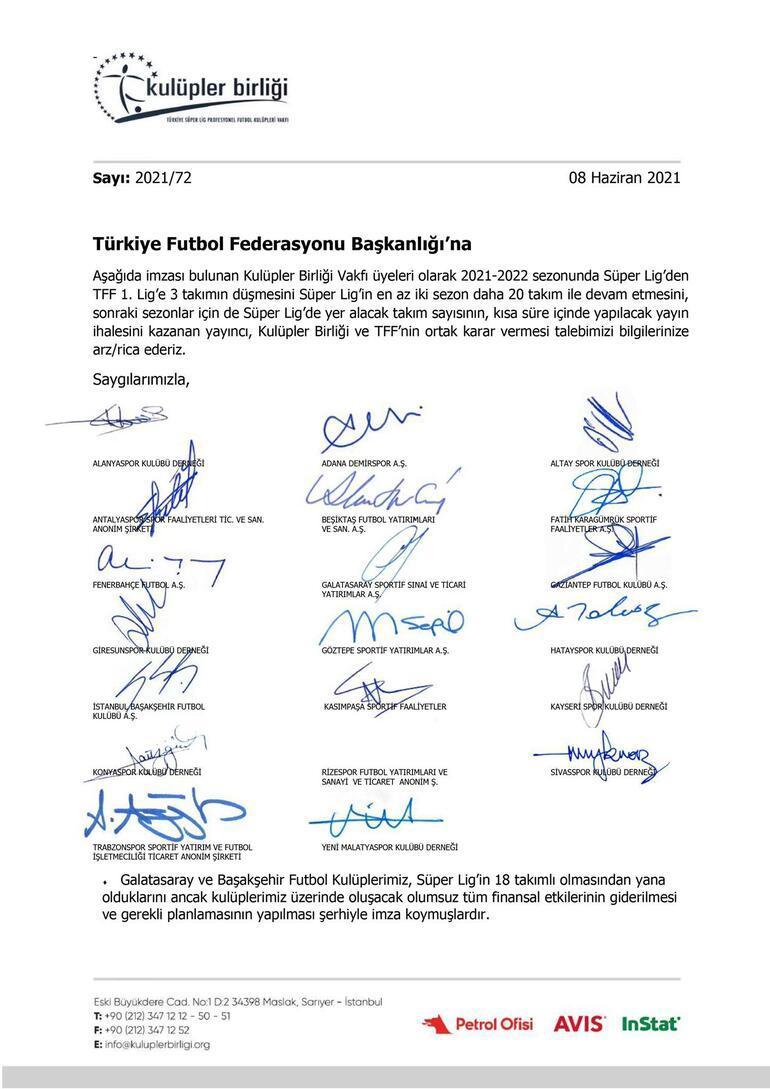 Son Dakika: Kulüpler Birliğinden flaş açıklamalar Yabancı kuralı, takım sayısı ve harcama limitleri için TFFye üç bildiri...