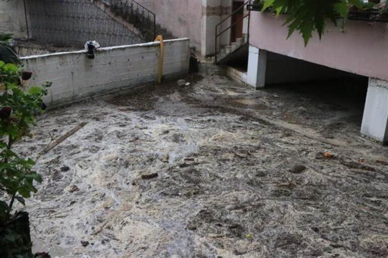 Adanada sel sonrası vatandaşlar bölgeye akın etti Kova kova topladılar