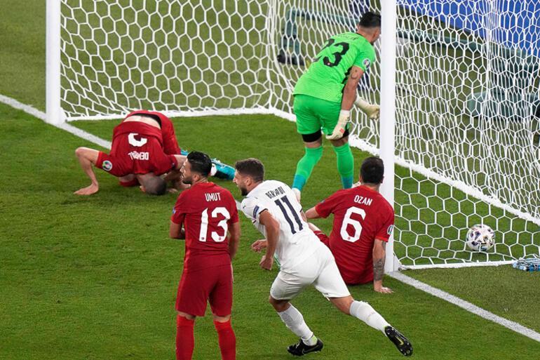EURO 2020de Türkiye - İtalya maçında Merih Demiralın büyük talihsizliği