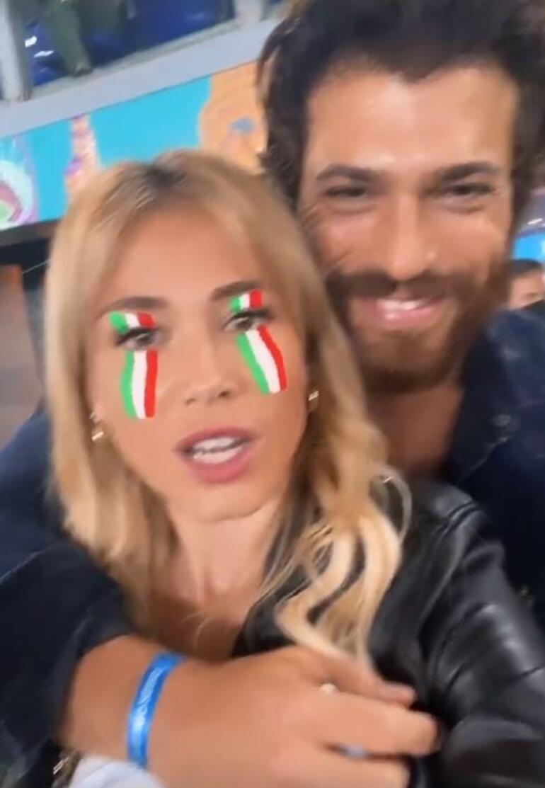 Türkiye-İtalya maçında ortaya çıktılar Diletta Leotta ve Can Yaman...