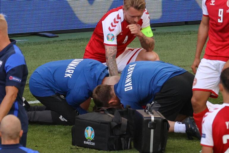 Son Dakika: EURO 2020deki Danimarka - Finlandiya maçında Christian Eriksen fenalaştı Oyuncunun sağlık durumu hakkında ilk açıklama geldi