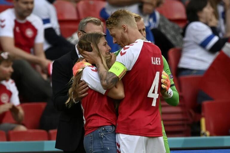 Son dakika: Christian Eriksenin hayati mücadelesine Simon Kjaer damgası Önce ilk yardım yaptı, sonra eşine destek oldu... Fenerbahçede yeri dolmadı...