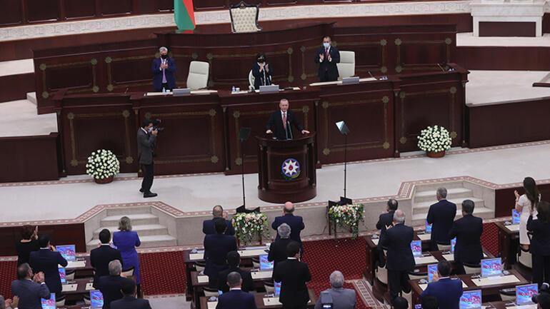 Son dakika: Cumhurbaşkanı Erdoğan, Azerbaycan Meclisine hitap etti... Bütün dünya bilsin ki diyerek ilan etti