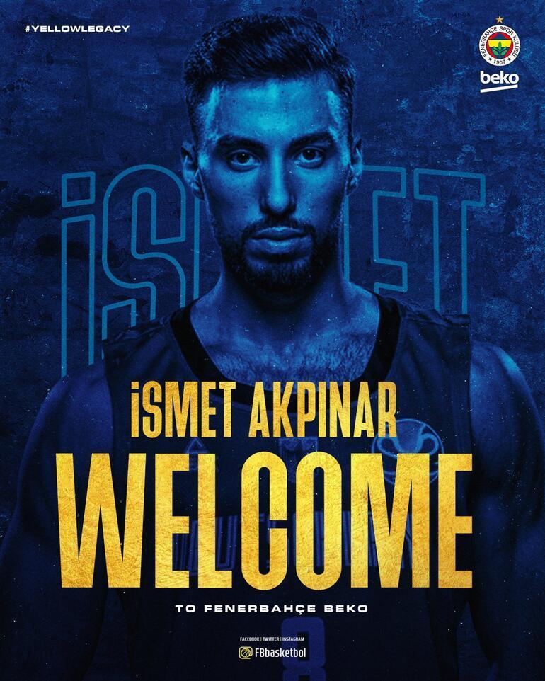 Son Dakika: İsmet Akpınar resmen Fenerbahçe Bekoda