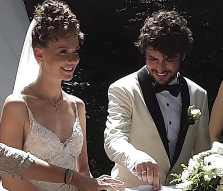 Taner Ölmez ve sevgilisi Ece Çeşmioğlu evlendi... Nikahtan ilk görüntüler