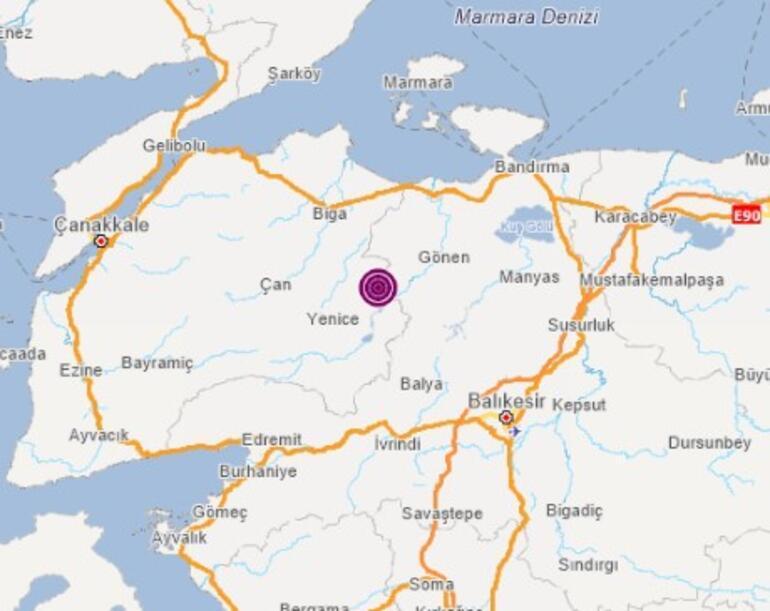 Son dakika haber Çanakkalede korkutan deprem