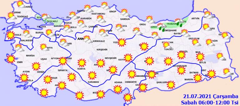 Yarın hava nasıl olacak Meteorolojiden sağanak yağış ikazı - İşte MGM 21 Temmuz İstanbul, Ankara, İzmir ve il il hava durumu
