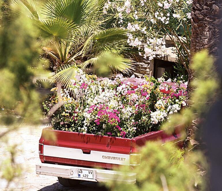 Minik Serçe'ye bir kamyon çiçek