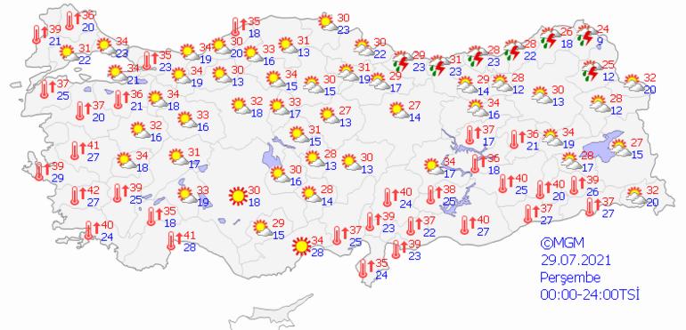 Bugün hava nasıl olacak Meteorolojiden son dakika sağanak ikazı: 29 Temmuz il il hava durumu tahminleri