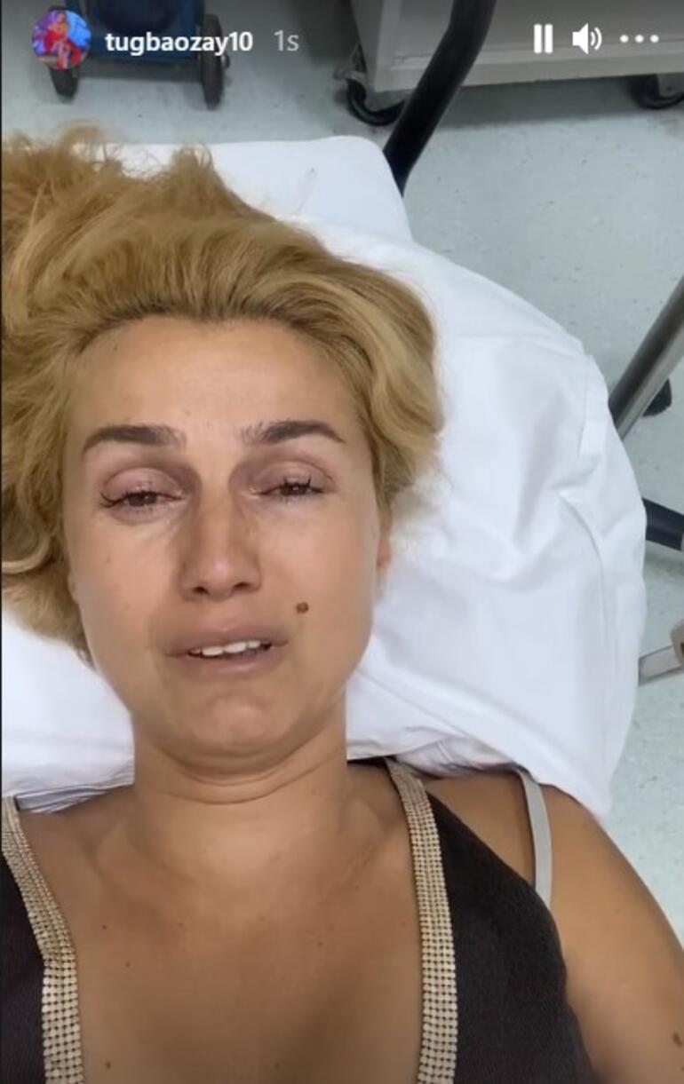 Manavgattaki çiftliği yanan Tuğba Özay hastaneden duyurdu: Arkadaşlar ben felç geçirdim. Yandı, her yer yandı