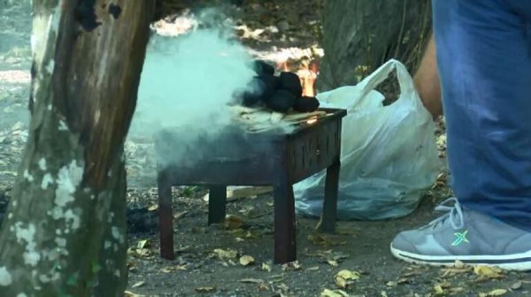 Yasak olmasına rağmen Belgrad Ormanında mangal yaktılar