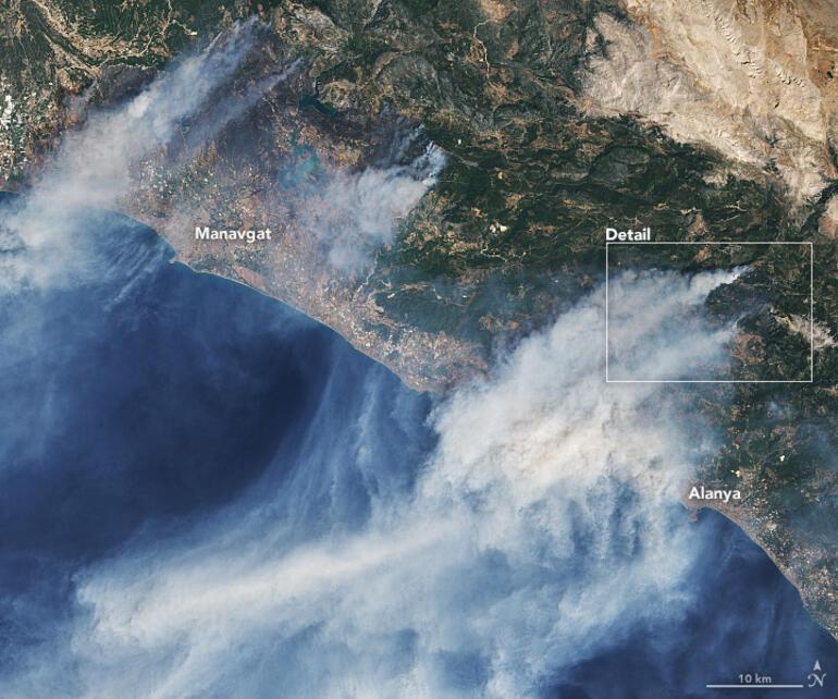 Son dakika: NASAdan Türkiye açıklaması... Uydu fotoğraflarını yayınladı