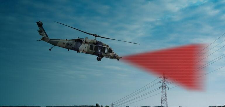 Helikopterler güvenle uçacak Engelleri tespit ediyor