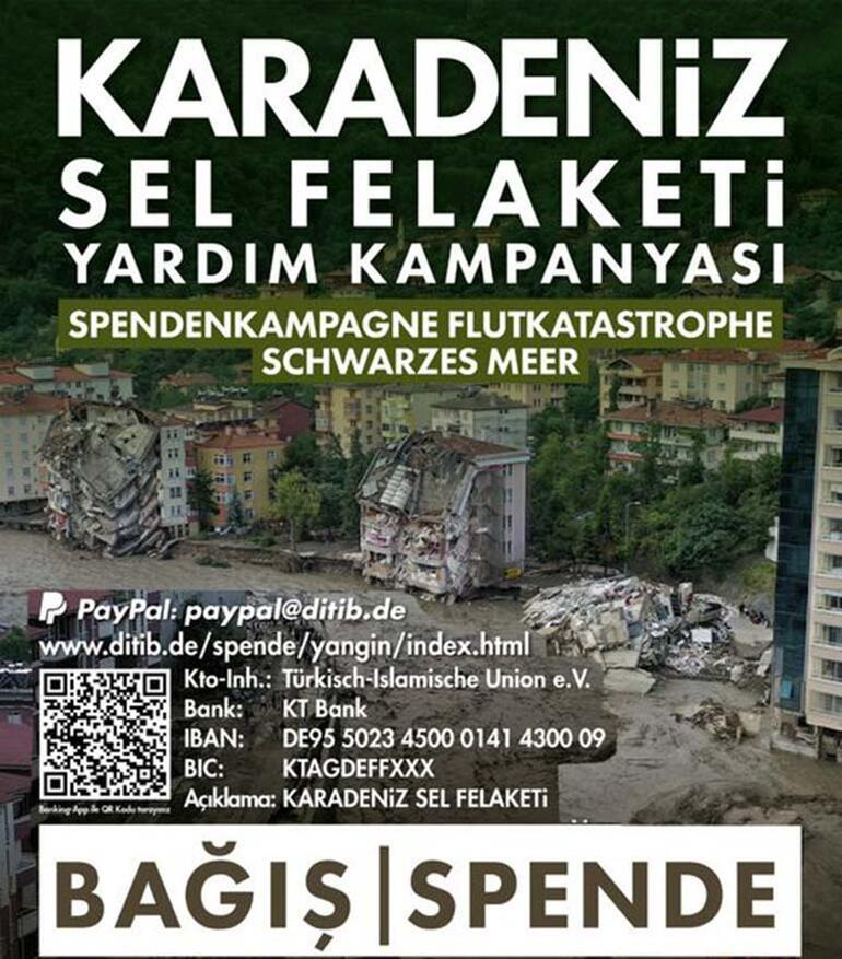 DİTİB'den, Karadeniz'deki sel mağdurları için yardım kampanyası