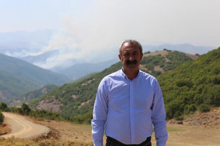Tunceli'de aynı bölgede yine örtü yangını çıktı