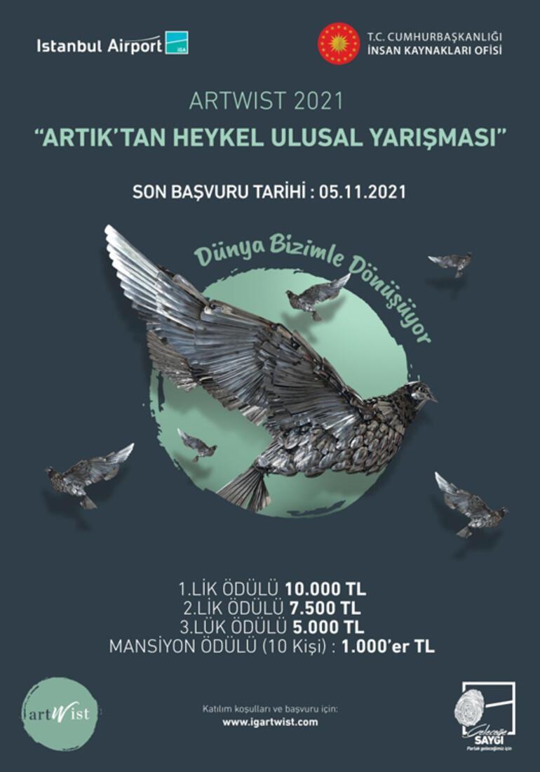 Türkiyenin yaratıcı gençleri  artıkları heykele dönüştürecek