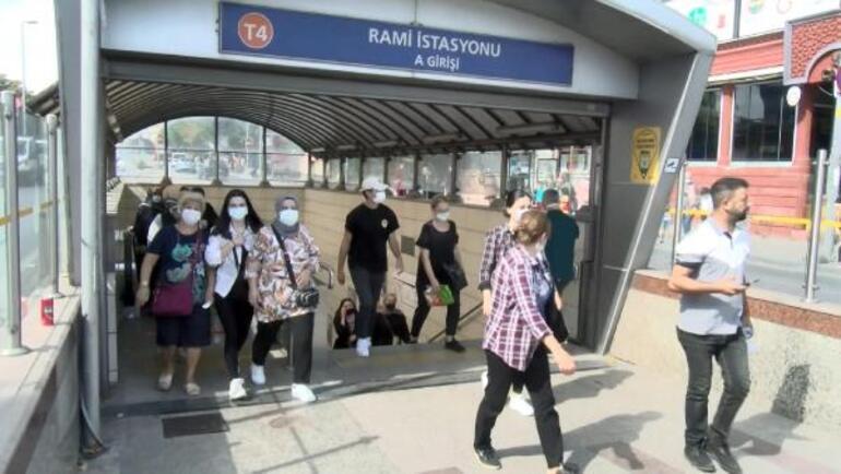 Topkapı-Mescidi Selam tramvay hattında arıza Yoğunluk oluştu, raylarda yürüdüler
