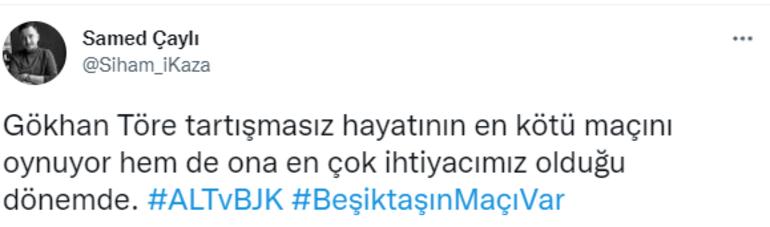 Son Dakika Haberi... Altay-Beşiktaş maçında Gökhan Töre tepkisi Performansı olay oldu