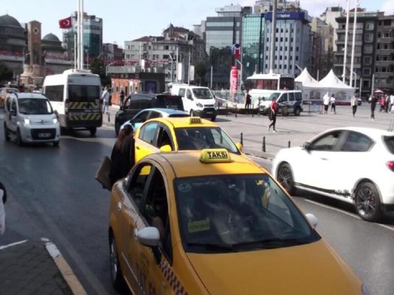 Son dakika... İstanbulda taksi denetimi Bu kez de uzun mesafe bahanesi