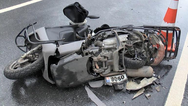 Sarıyerde kaza Motosikletli kurye hayatını kaybetti