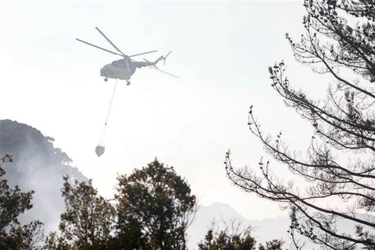 Son dakika... Antalyanın Kemer ilçesinde orman yangını