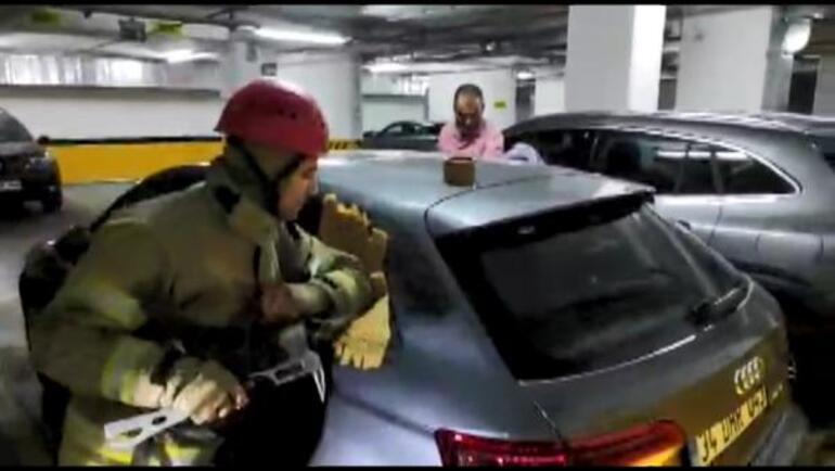 1 yaşındaki bebek otomobilde kilitli kaldı