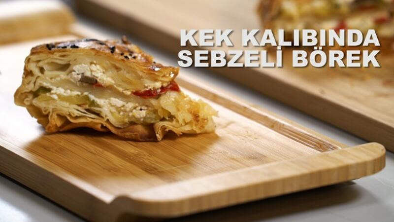 Kek kalıbında sebzeli börek | Lezizz
