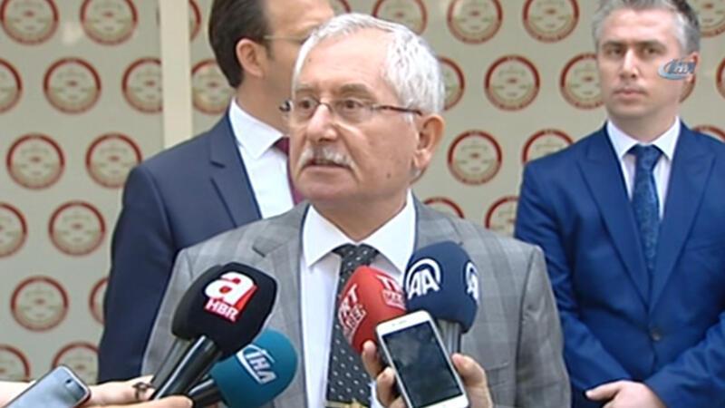 """YSK Başkanı: """"Sonuçları yüzde 100 olarak işledik"""""""