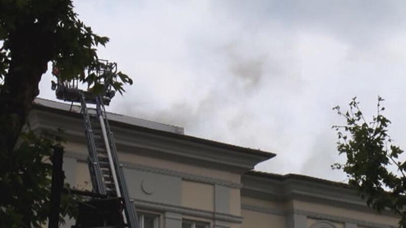 Mimar Sinan Üniversitesi'nin çatısında yangın