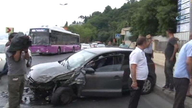 Tarabya'da trafik kazası