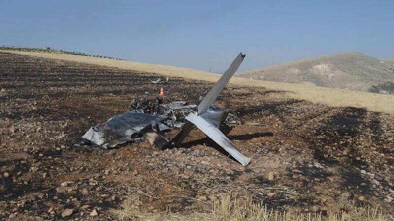 Adıyaman'da eğitim uçağı düştü