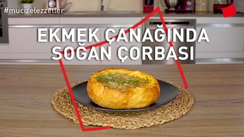 Ekmek çanağında soğan çorbası