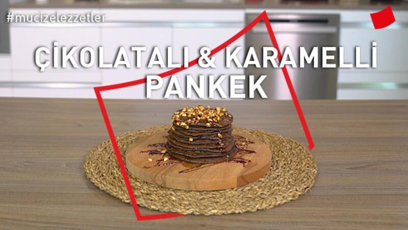 Çikolatalı & Karamelli Pankek