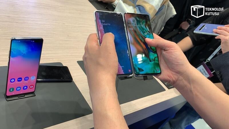 Galaxy S10 Plus ve Galaxy S10 5G yan yana