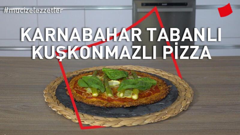 Karnabahar Tabanlı Kuşkonmazlı Pizza | Mucize Lezzetler