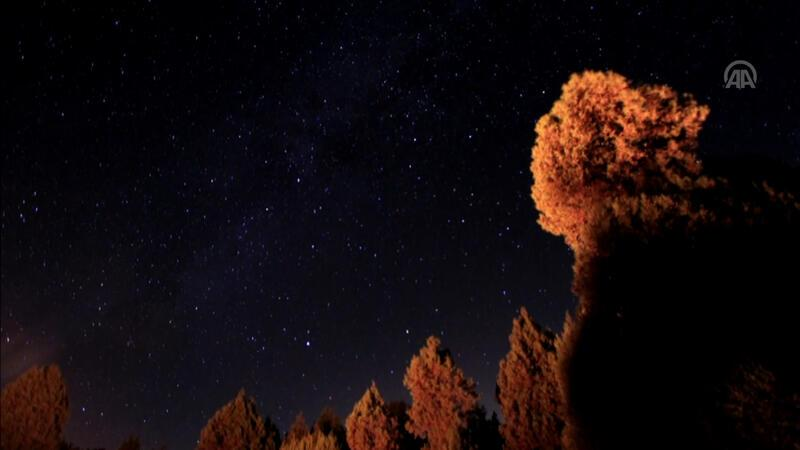 Domaniç'te perseid meteor yağmuru