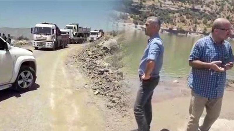 Siirt'te baraj kapakları açıldı, araçlar mahsur kaldı