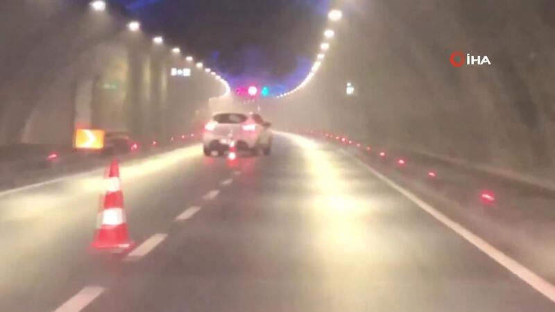 "Avrasya Tüneli'nde dubalara ""makas"" atan maganda yakalandı"