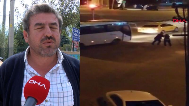 Taksinin aynasını kırdığı için kadını döven taksici konuştu