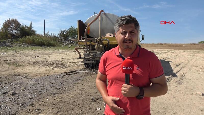Balıkların öldüğü Oruçlu Göleti'ne tankerle su taşınıyor