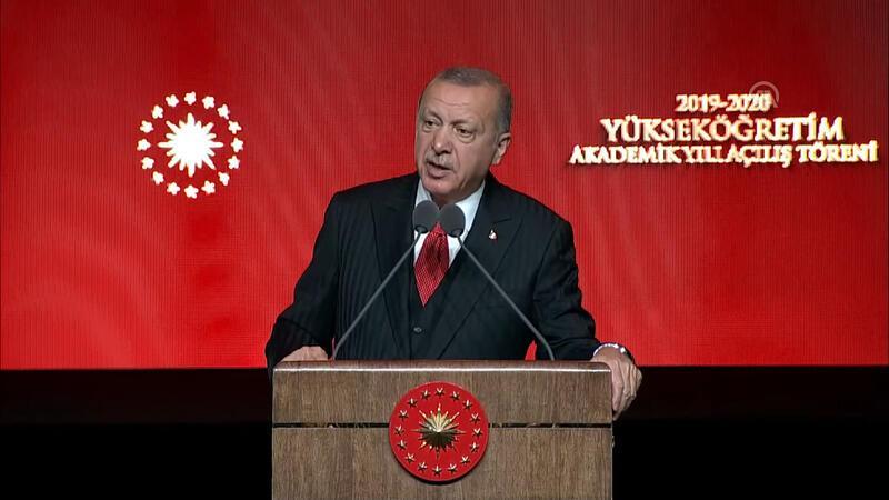 Cumhurbaşkanı Erdoğan, Akademik Yıl Açılış Töreni'nde konuştu