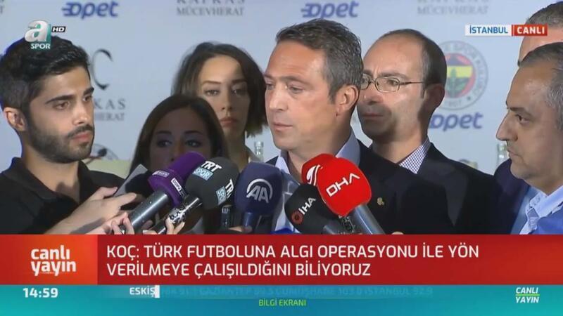 Ali Koç'tan Fatih Terim'e gönderme; Sicili bozuk!
